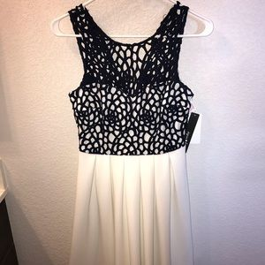 Navy and white formal dress NWT
